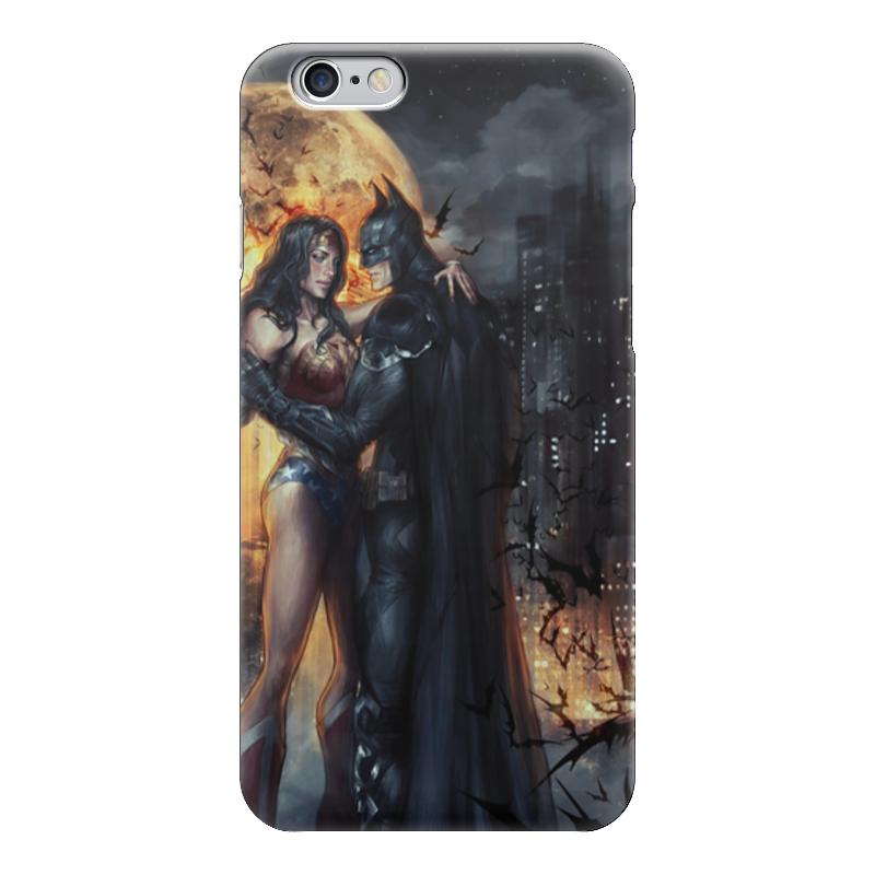 Чехол для iPhone 6 глянцевый Printio Wonder woman & batman чехол для iphone 6 глянцевый printio чудо женщина wonder woman