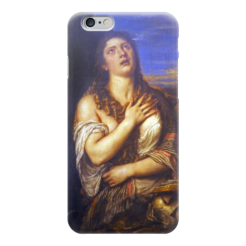 Чехол для iPhone 6 глянцевый Printio Кающаяся мария магдалина (тициан)