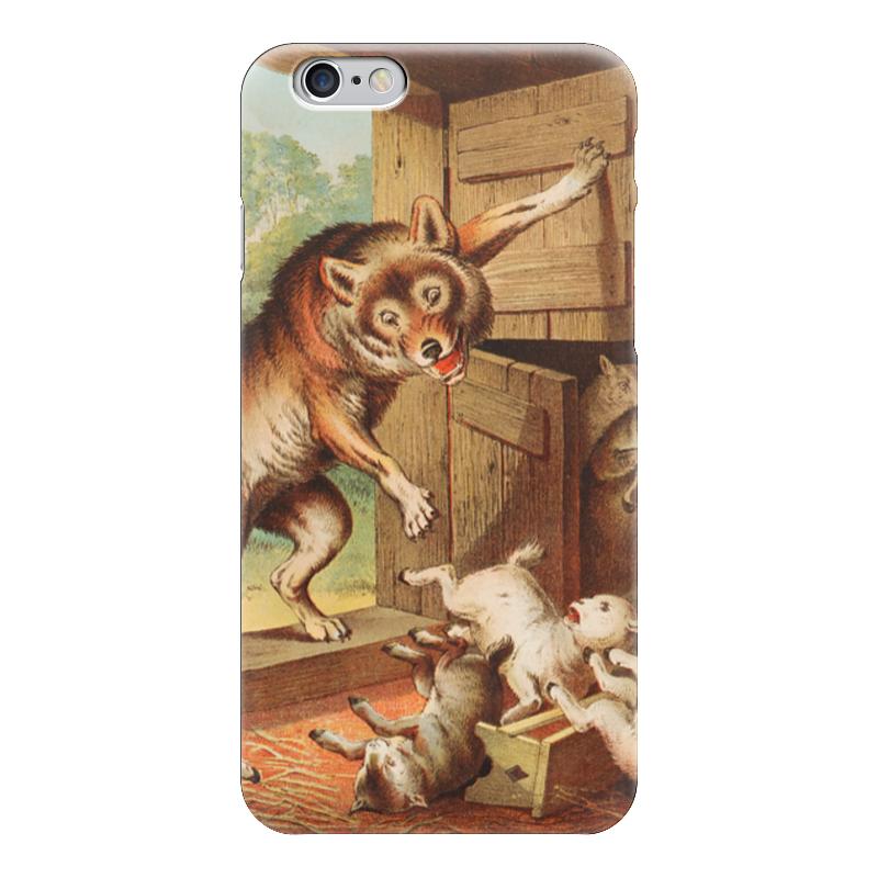 Чехол для iPhone 6 глянцевый Printio Волк и семеро козлят азбукварик книга с музыкальным модулем волк и семеро козлят