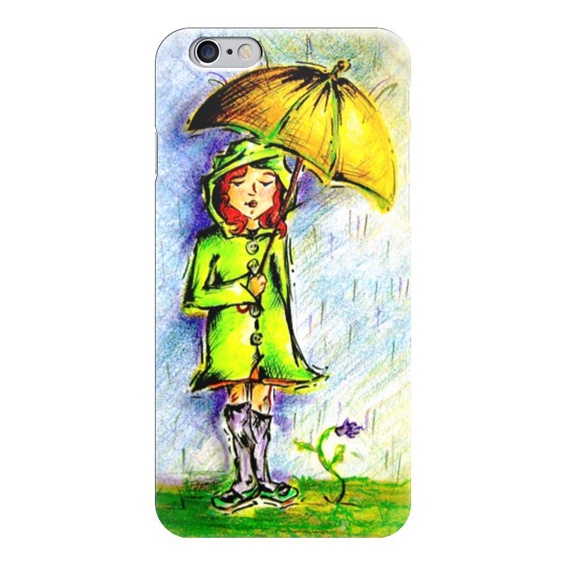 Чехол для iPhone 6 глянцевый Printio Дождик, дождик, уходи!