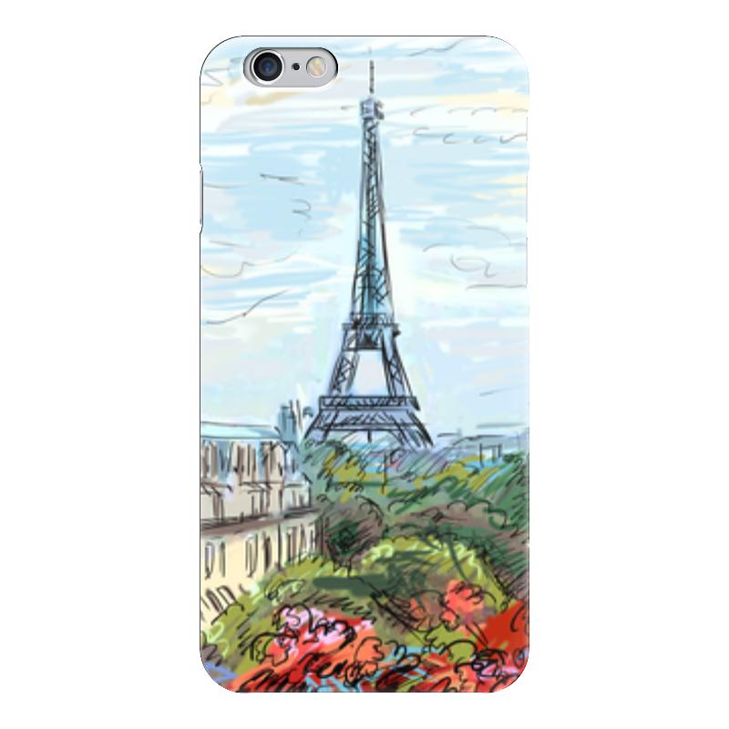 Чехол для iPhone 6 глянцевый Printio Эйфелева башня макет эйфелевой башни спб