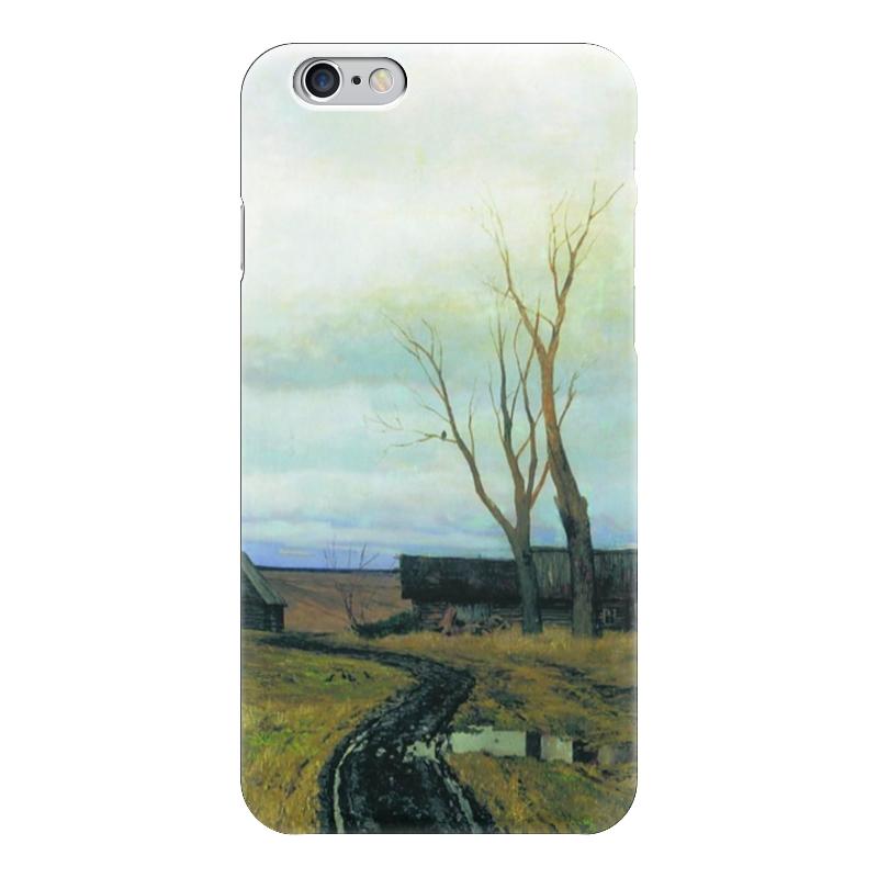 Чехол для iPhone 6 глянцевый Printio Осень. дорога в деревне (левитан)