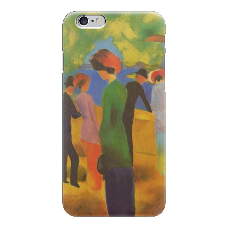 Чехол для iPhone 6 глянцевый Printio Дама в зелёном жакете (август маке) август мягкая мозаика дерево цвет основы синий