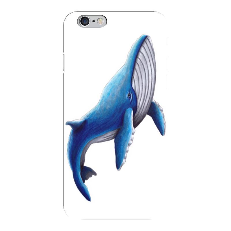 Чехол для iPhone 6 глянцевый Printio Синий кит чехол для iphone 6 глянцевый printio свобода слова freedom of speech