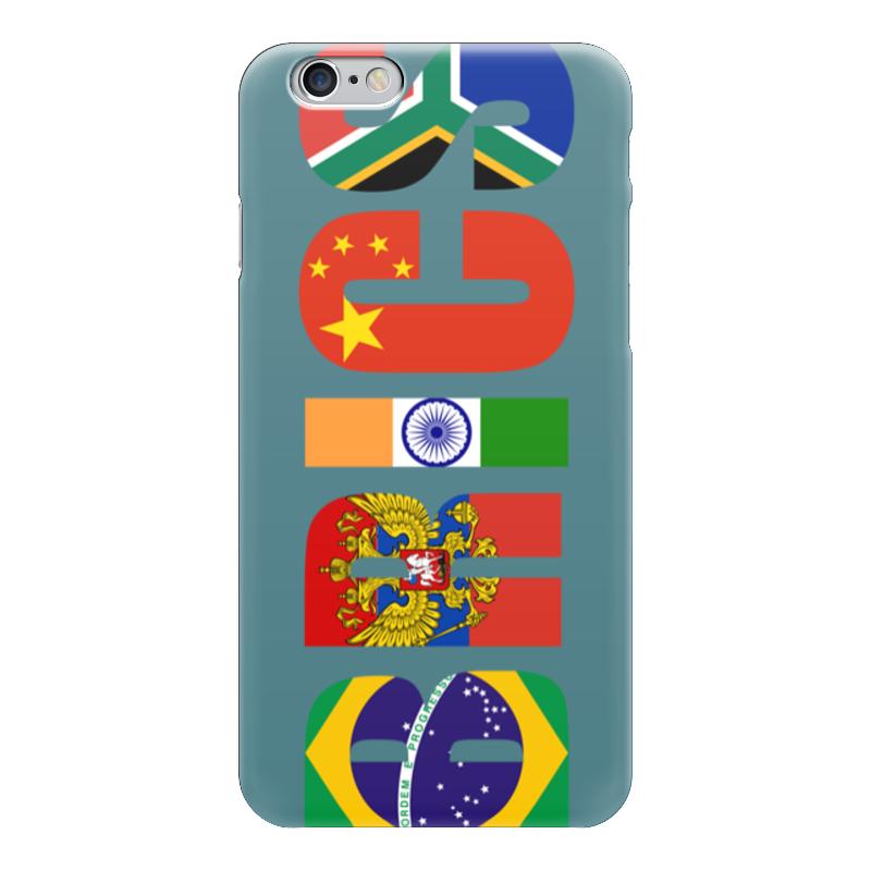 Чехол для iPhone 6 глянцевый Printio Brics - брикс чехол twelve south bookbook для iphone 5 в спб