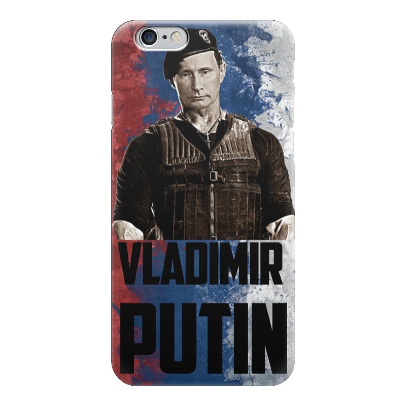 Чехол для iPhone 6 глянцевый Printio Putin