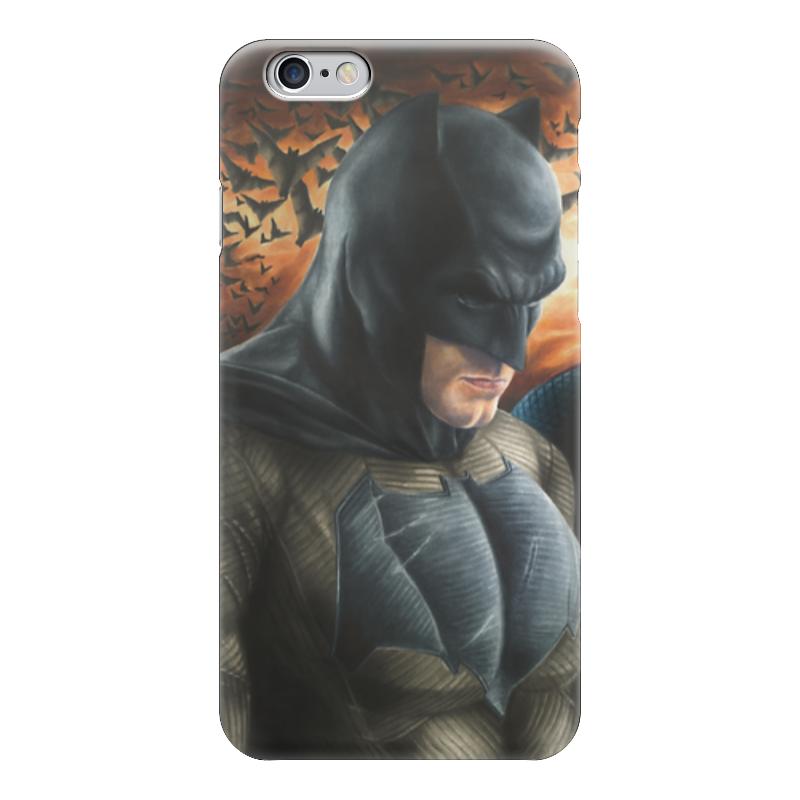 Чехол для iPhone 6 глянцевый Printio Бэтмен (batman) чехол для iphone 4 глянцевый с полной запечаткой printio бэтмен
