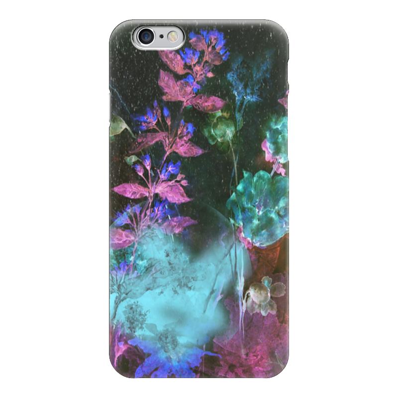 Чехол для iPhone 6 глянцевый Printio Светящиеся цветы. ночь рижский рынок купить цветы ночью