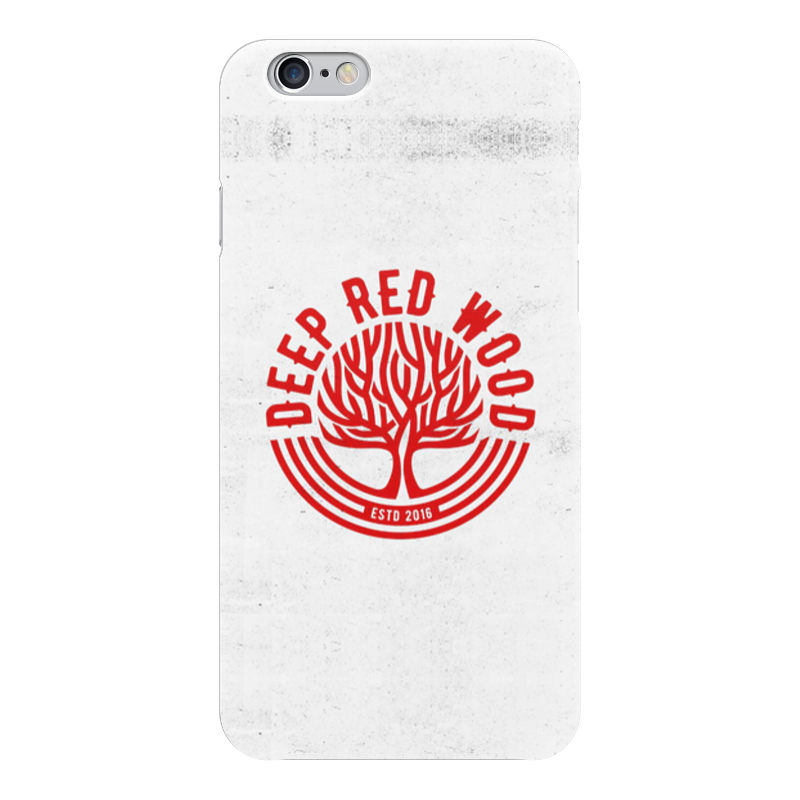 Чехол для iPhone 6 глянцевый Printio Deep red wood чехол для iphone 6 глянцевый printio red girl