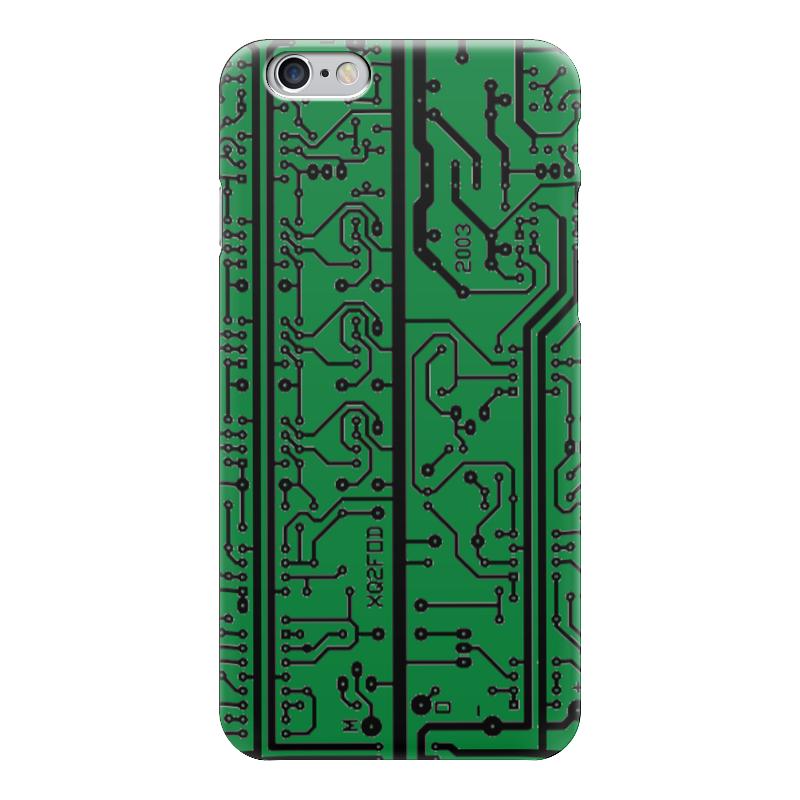 Чехол для iPhone 6 глянцевый Printio Электроника электроника в автомобиле вып 123