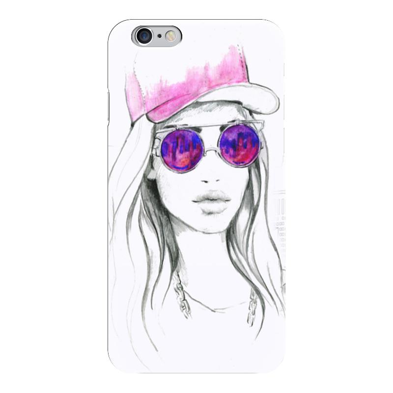 Чехол для iPhone 6 глянцевый Printio Фэшн иллюстрация. девушка в розовых очках свитшот унисекс с полной запечаткой printio фэшн иллюстрация девушка в розовых очках