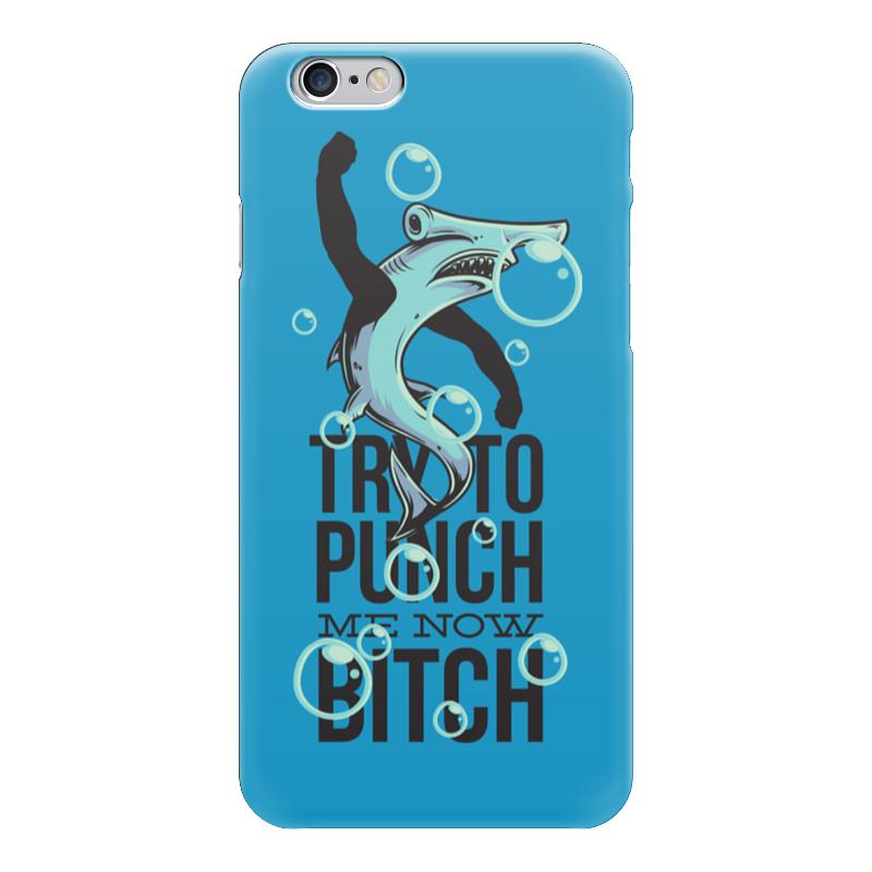 Чехол для iPhone 6 глянцевый Printio Акула серова м клад белой акулы