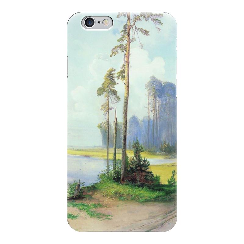 Чехол для iPhone 6 глянцевый Printio Летний пейзаж. сосны. чехол для iphone 6 глянцевый printio летний сад
