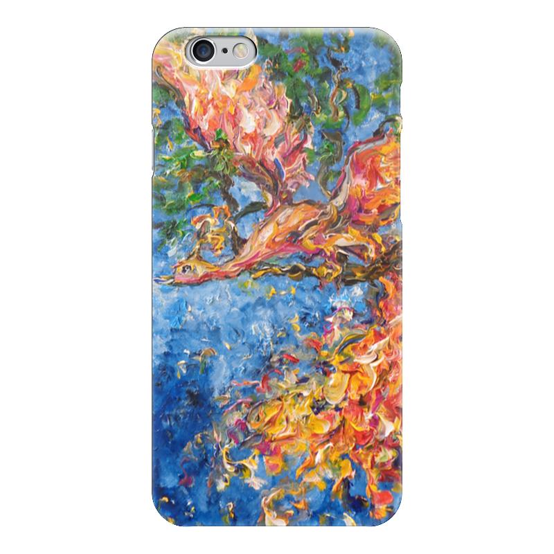 Чехол для iPhone 6 глянцевый Printio Жар птица фантазер картина из ниток птица