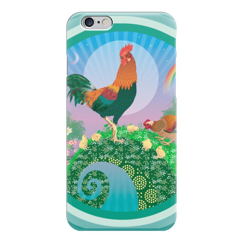 купить Чехол для iPhone 6 глянцевый Printio Петух по цене 1080 рублей