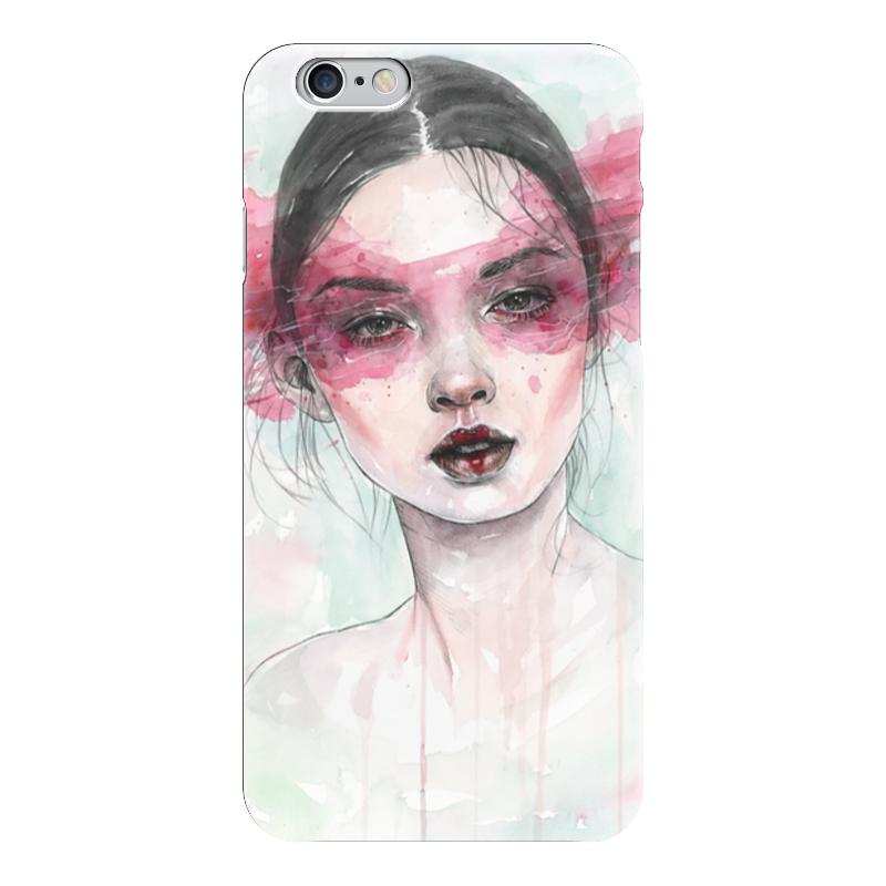 Чехол для iPhone 6 глянцевый Printio Девушка акварель