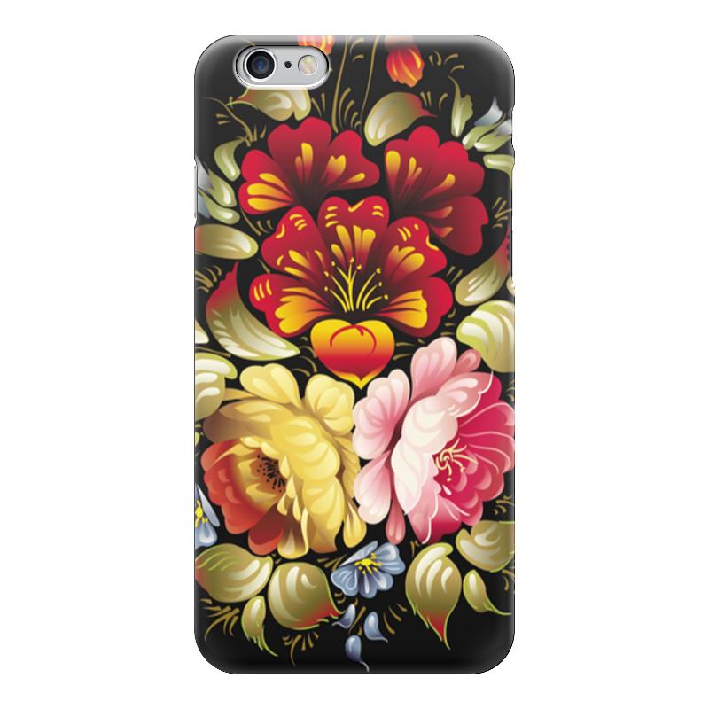 Чехол для iPhone 6 глянцевый Printio Хохлома цветы