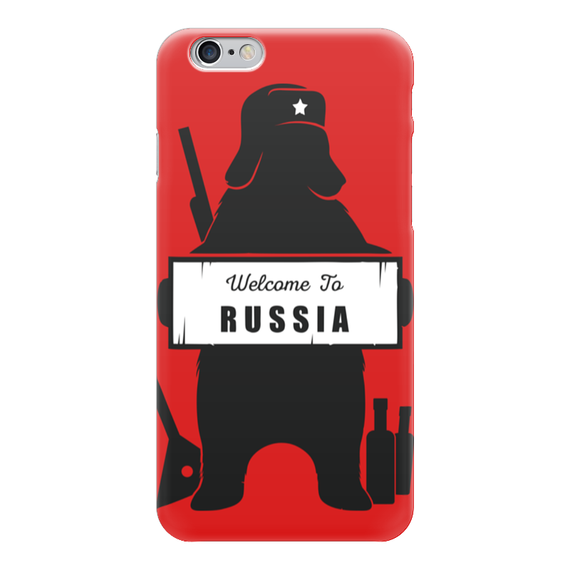 Чехол для iPhone 6 глянцевый Printio Welcome to russia jia kang nong