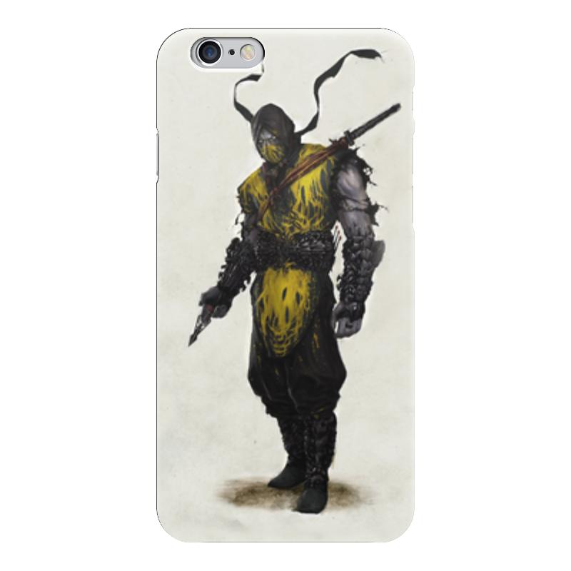 Чехол для iPhone 6 глянцевый Printio Mortal kombat x scorpion