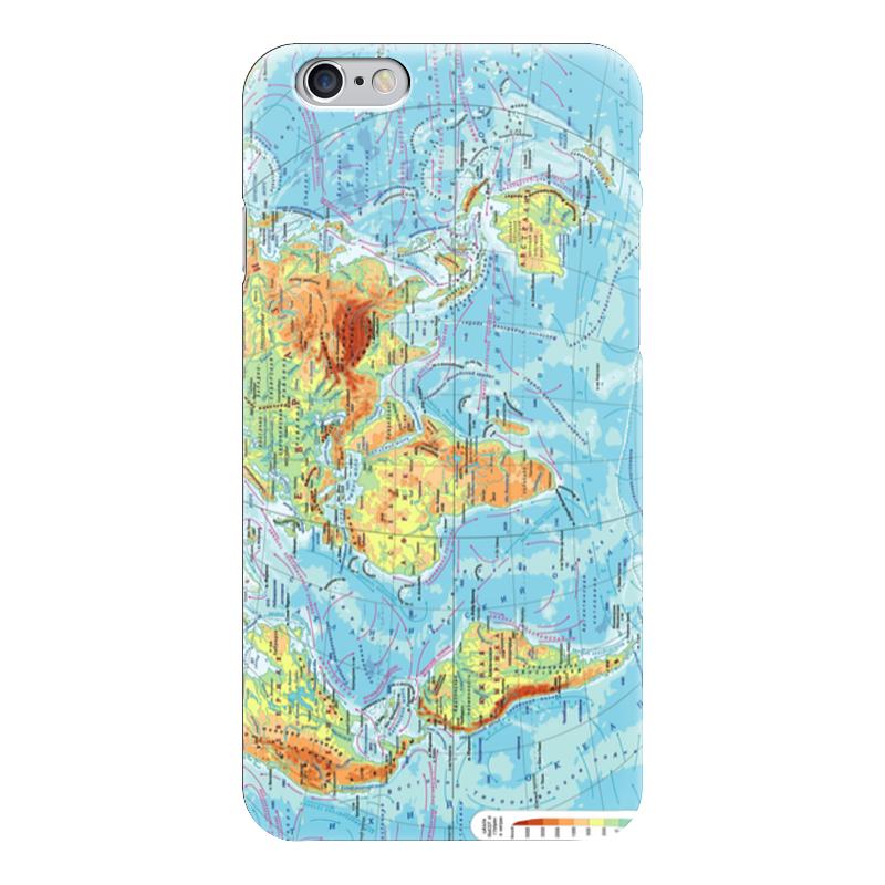 Чехол для iPhone 6 глянцевый Printio Карта мира чартер для всех