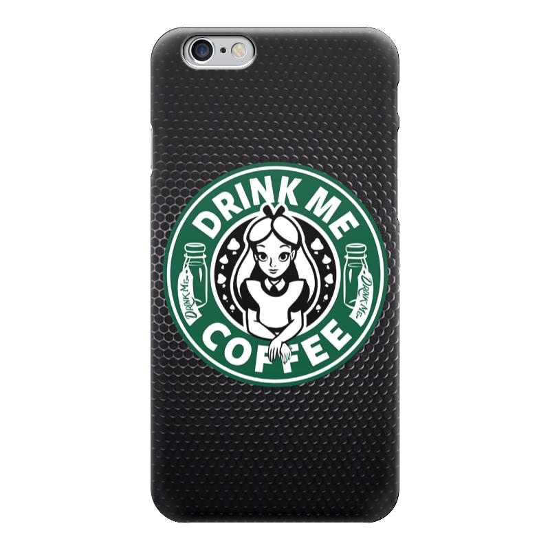 Чехол для iPhone 6 глянцевый Printio Drink me coffee (налей мне кофе) чехол для iphone 6 глянцевый printio спящая красавица сказка