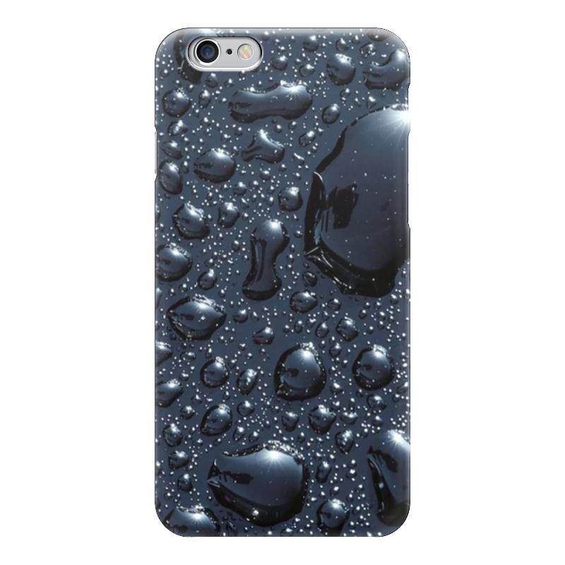 Чехол для iPhone 6 глянцевый Printio Черная роса фон фон для презентации черный