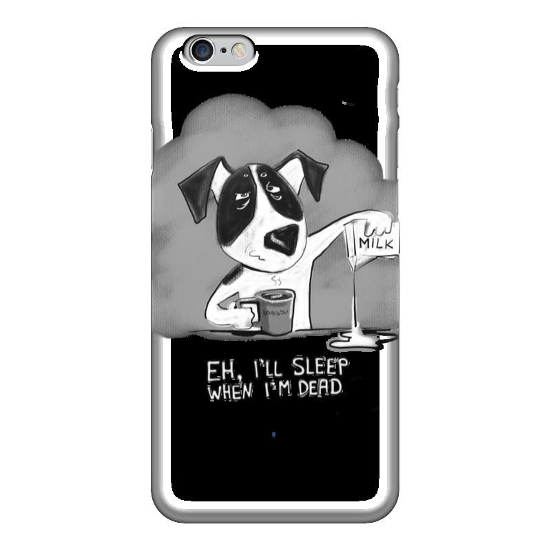 Чехол для iPhone 6 глянцевый Printio I'll sleep when i'm dead куплю джек рассел терьера в саратове