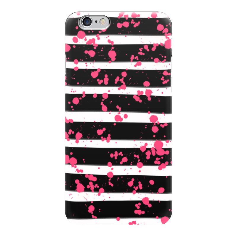 Чехол для iPhone 6 глянцевый Printio Розовые брызги чехол для iphone 6 глянцевый printio розовые сердечки