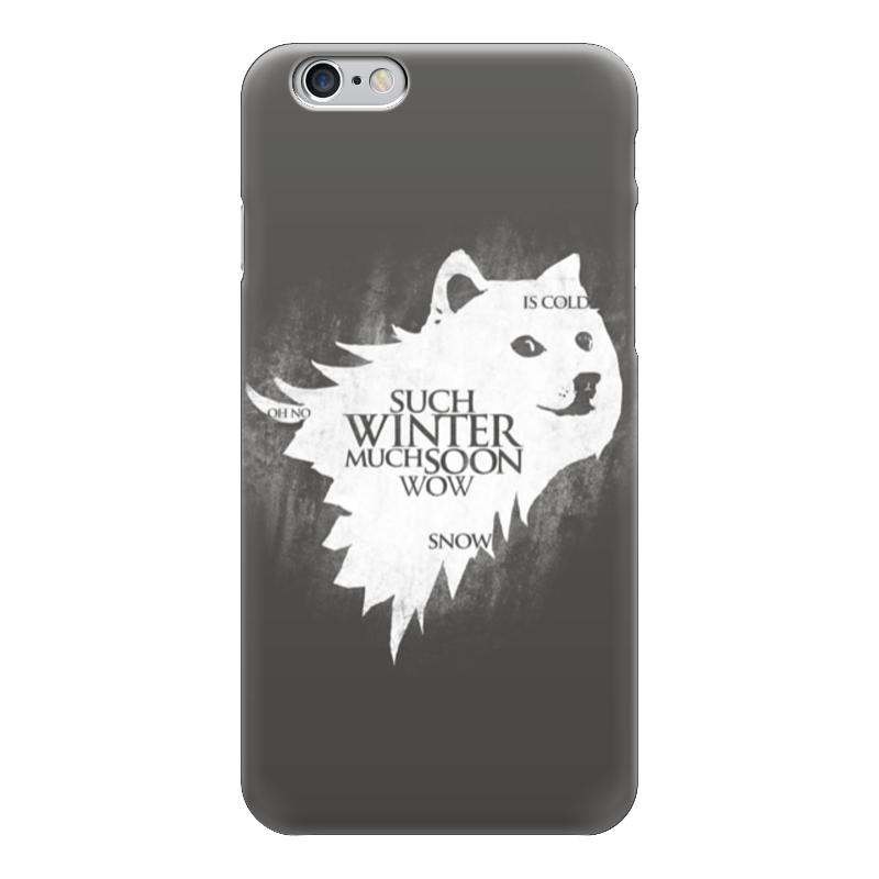 Чехол для iPhone 6 глянцевый Printio Winter is coming (doge) рубашка поло stanley performs printio winter is coming