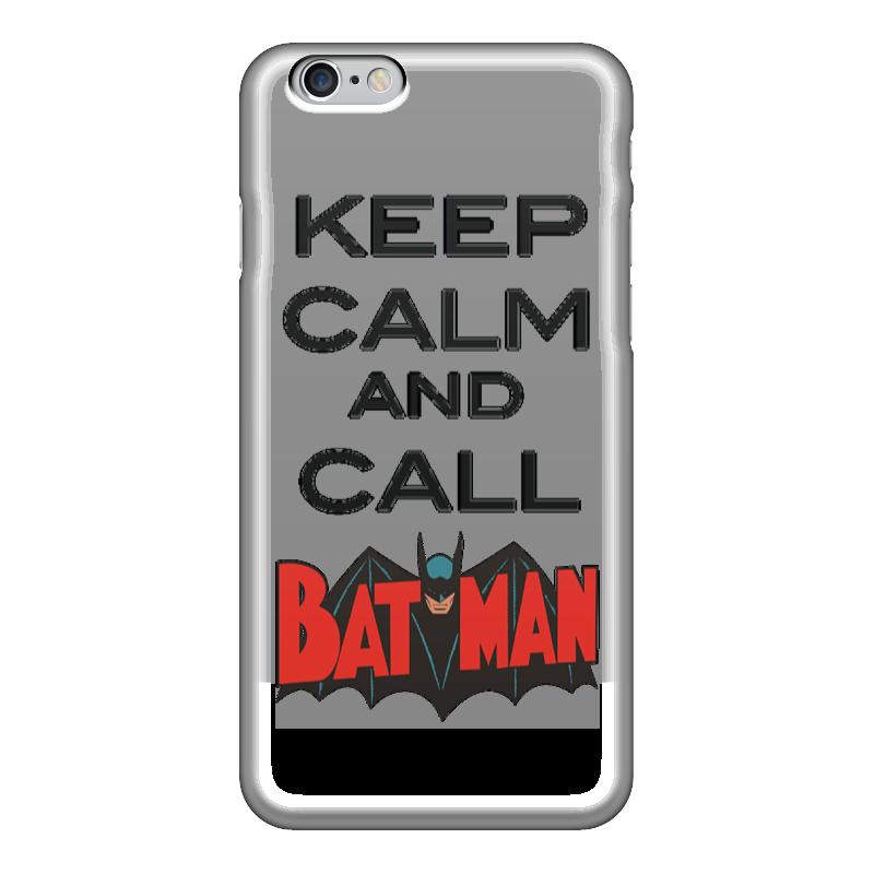 Чехол для iPhone 6 глянцевый Printio Keep calm and call batman чехол для iphone 7 глянцевый printio keep calm and play rock