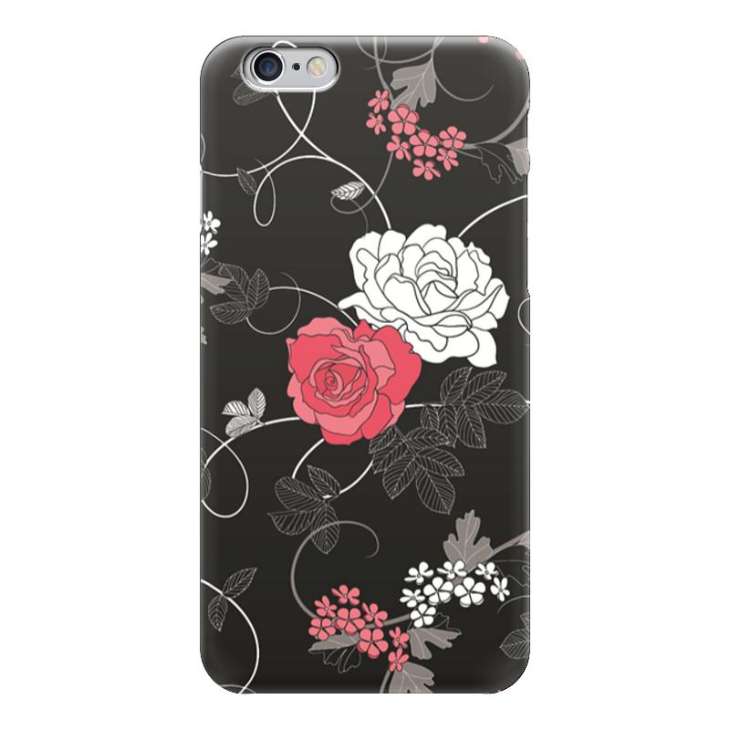 Чехол для iPhone 6 глянцевый Printio Красная и белая розы чехол для iphone 6 глянцевый printio сад на улице корто сад на монмартре ренуар