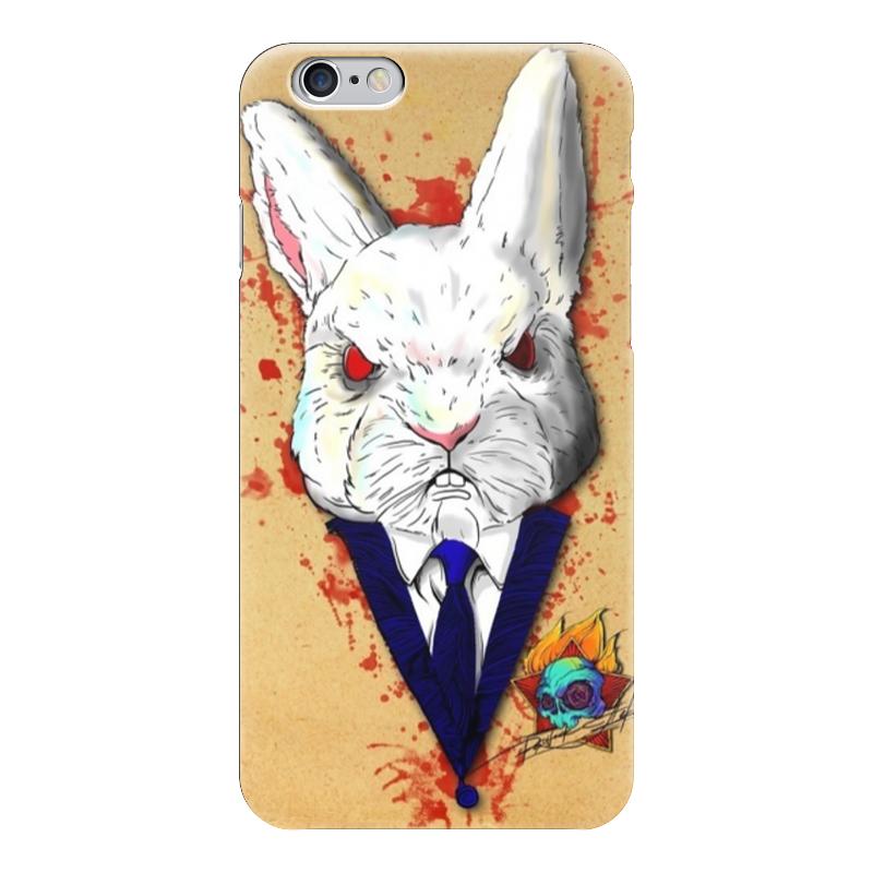 Чехол для iPhone 6 глянцевый Printio Крутой кролик чехол для iphone 6 глянцевый printio кролик