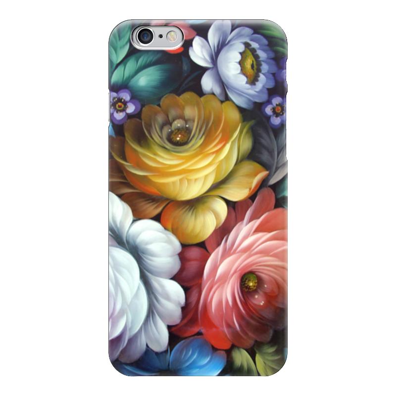 Чехол для iPhone 6 глянцевый Printio Colorfull flowers коврик для мыши pcpet colorfull nature rgm02 голубой с рисунком 648600