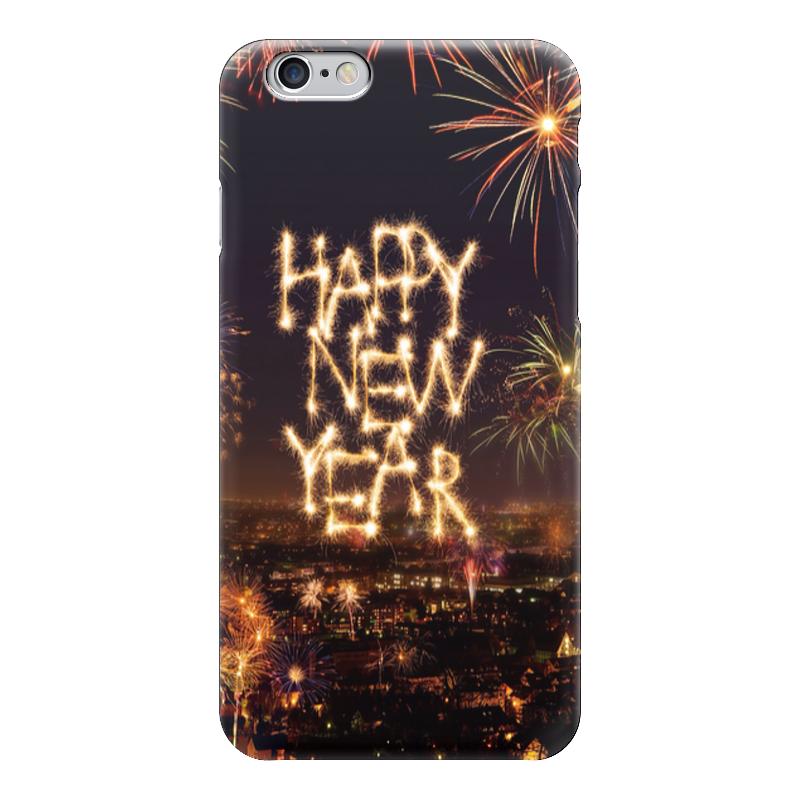 Чехол для iPhone 6 глянцевый Printio Happy new year фартук с полной запечаткой printio happy new year 2017
