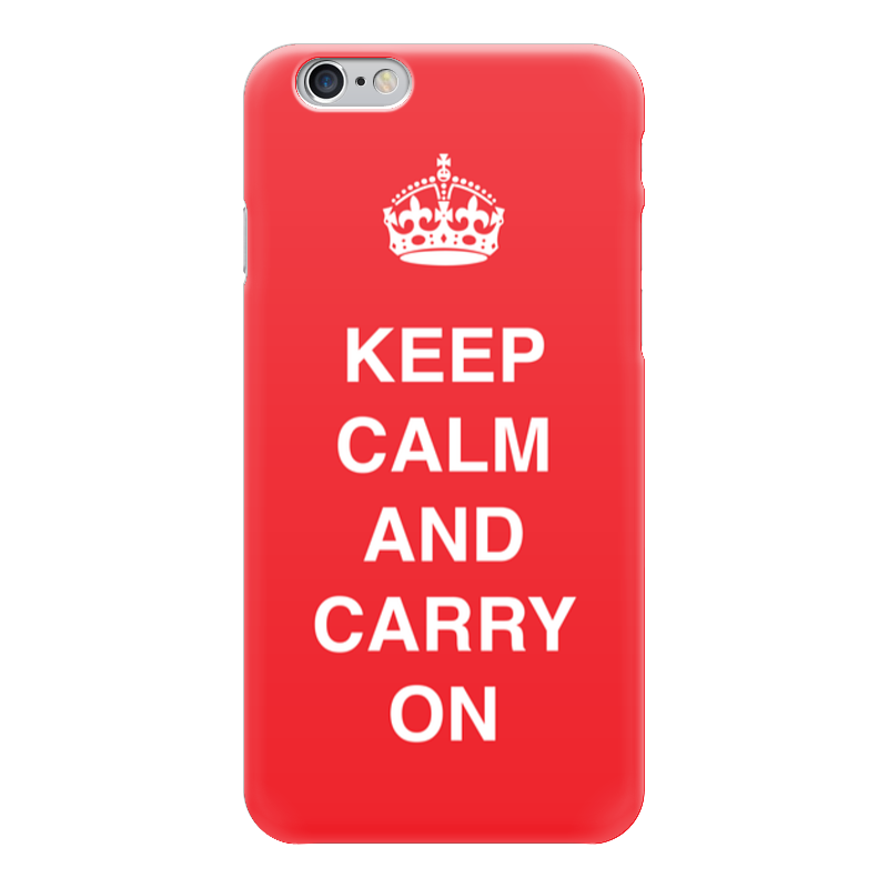 Чехол для iPhone 6 глянцевый Printio Keep calm and carry on sahar cases чехол keep calm and love me iphone 5 5s 5c
