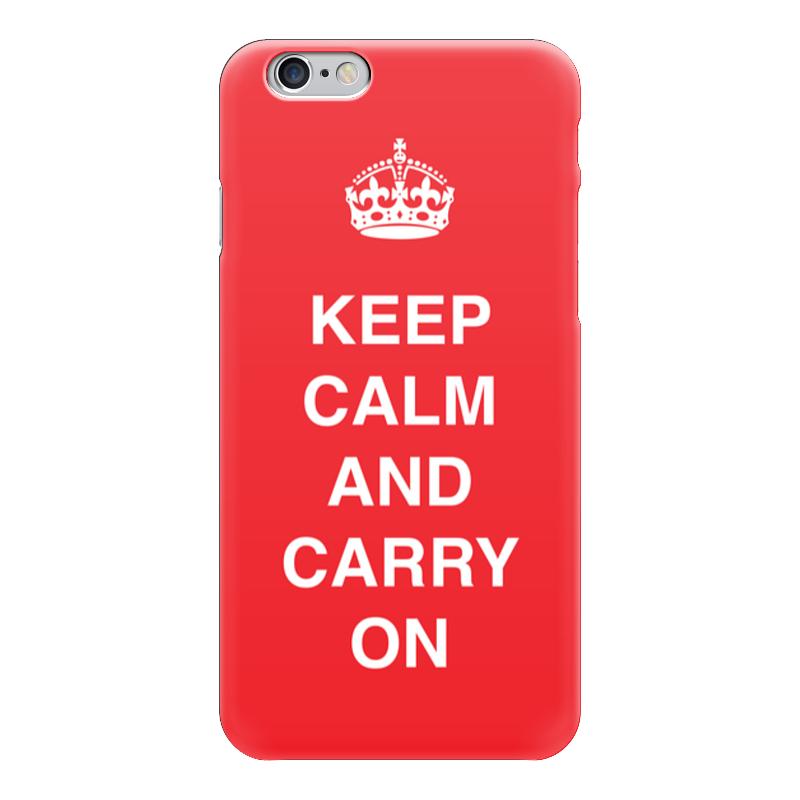 Чехол для iPhone 6 глянцевый Printio Keep calm and carry on keep calm and carry on distressed motorola droid 2 skinit skin