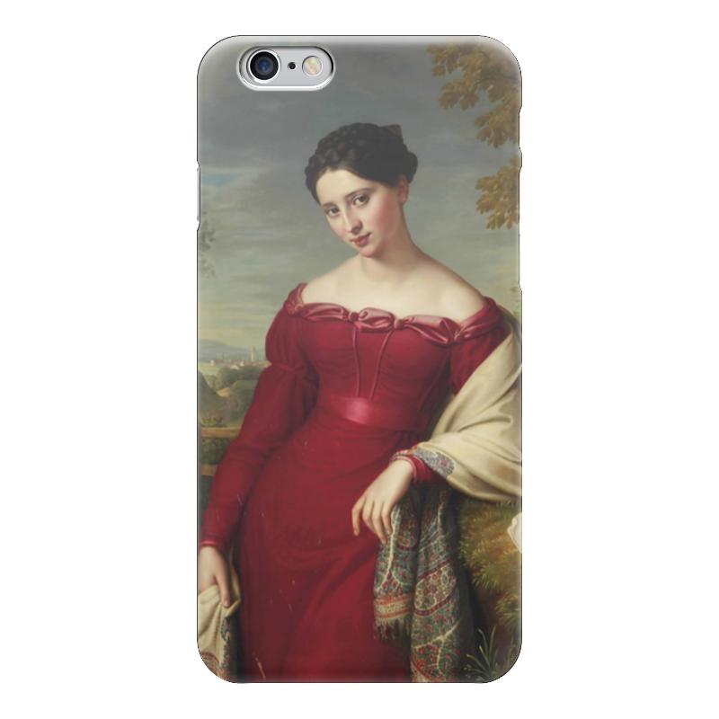 Чехол для iPhone 6 глянцевый Printio Портрет молодой дамы в красном платье куплю еврозаборы в красном луче