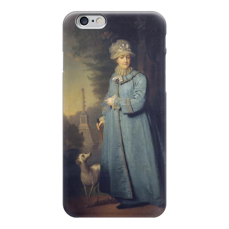 Чехол для iPhone 6 глянцевый Printio Екатерина ii на прогулке в царскосельском парке