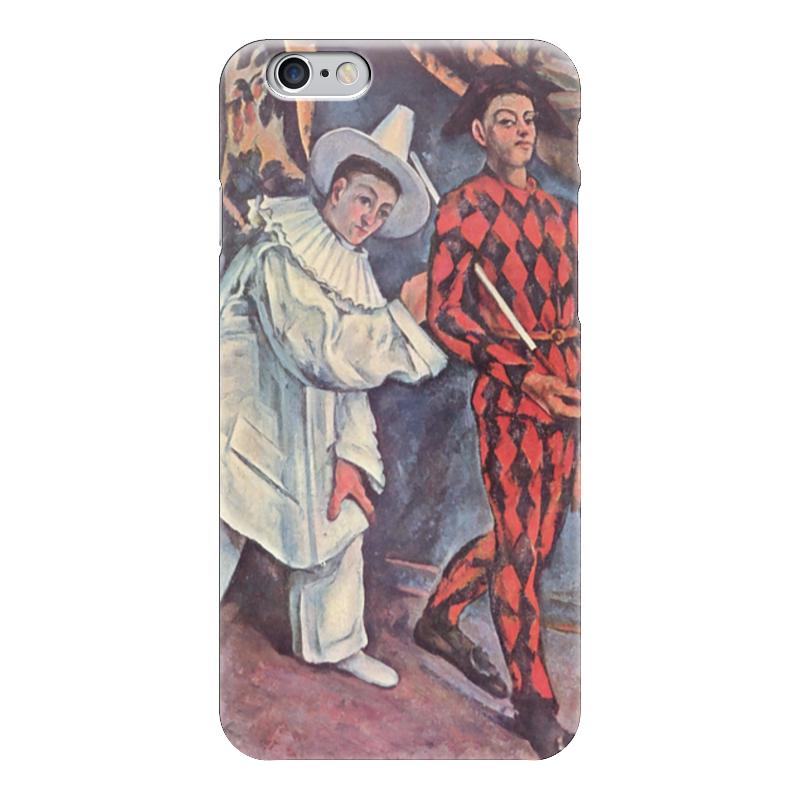 Чехол для iPhone 6 глянцевый Printio Пьеро и арлекин