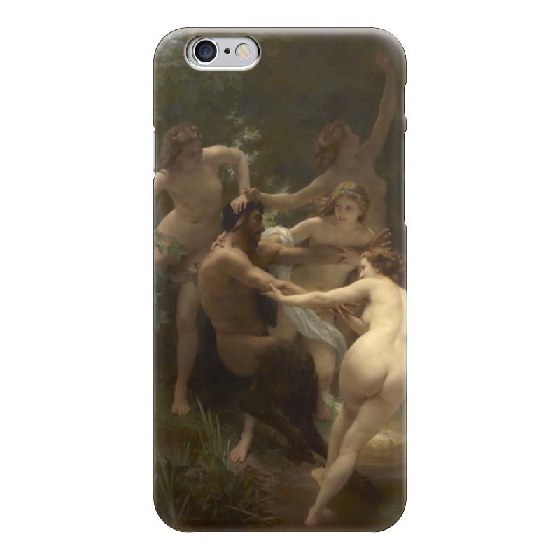 Чехол для iPhone 6 глянцевый Printio Нимфы и сатир (вильям бугро)