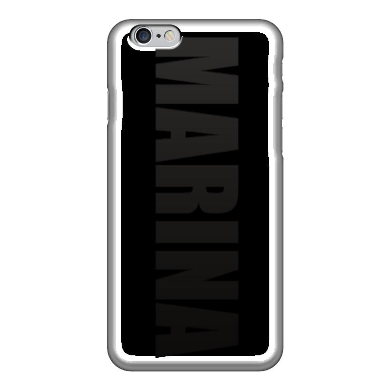 Чехол для iPhone 6 глянцевый Printio С именем марина компрессор 30 л мин цифровой тестер акб и генератора evolution vettler