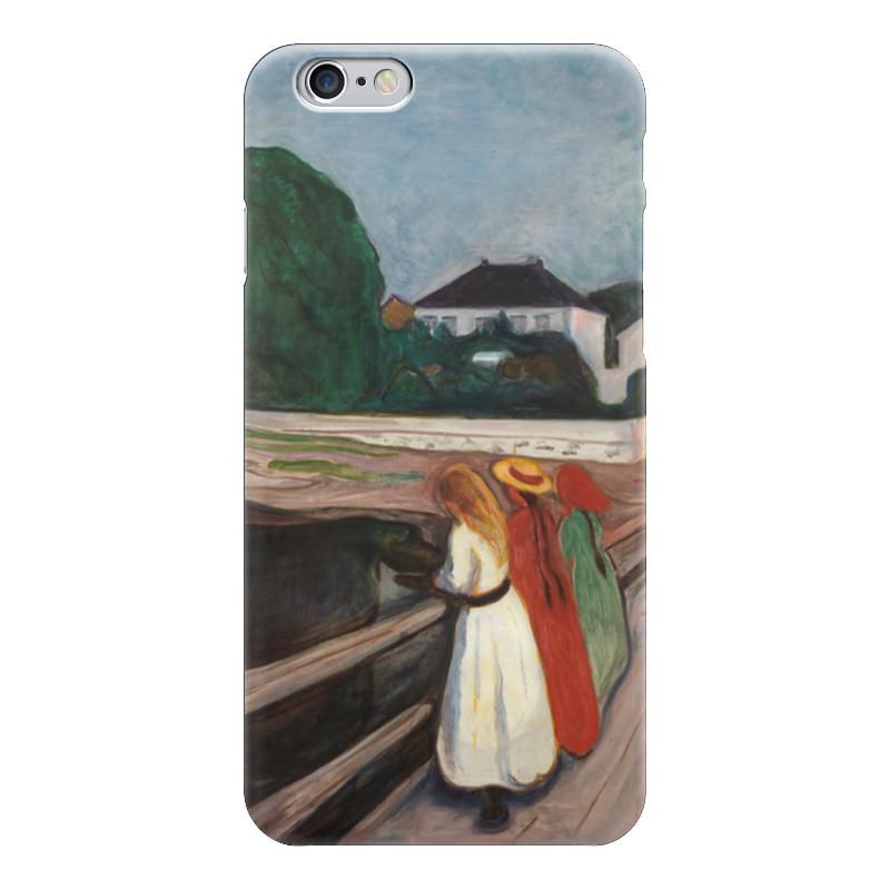 Чехол для iPhone 6 глянцевый Printio Девушки на мосту вышивка на аничковом мосту