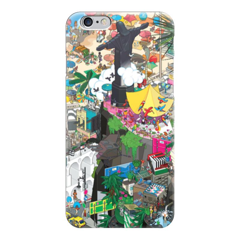 Чехол для iPhone 6 глянцевый Printio Рио-де-жанейро колонна рио