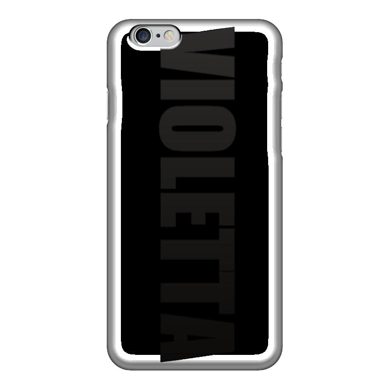 Чехол для iPhone 6 глянцевый Printio С именем виолетта чехол для iphone 5 printio с именем алла
