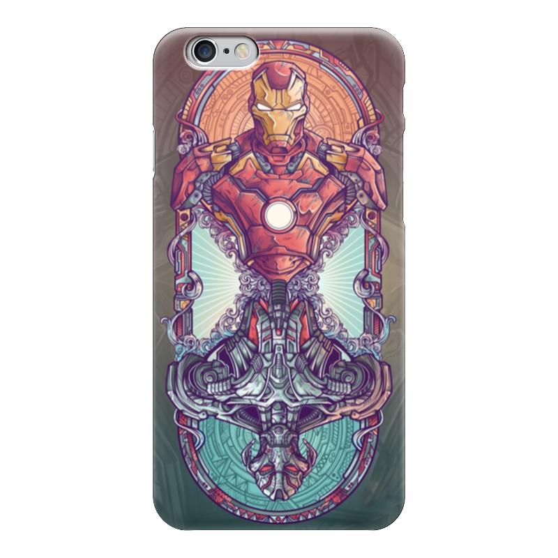 Чехол для iPhone 6 глянцевый Printio Iron man vs ultron чехол для iphone 6 глянцевый printio альтрон ultron