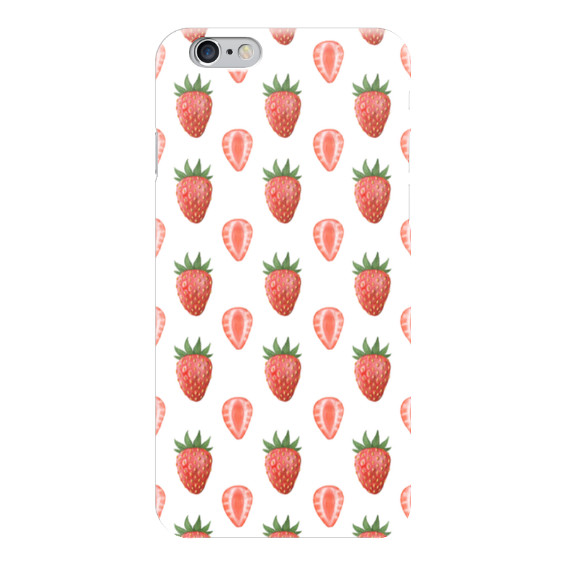 Чехол для iPhone 6 глянцевый Printio Акварельная клубника клубника 3 6