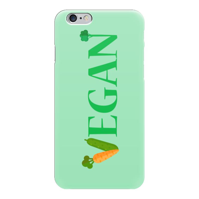 Чехол для iPhone 6 глянцевый Printio Vegan стоимость