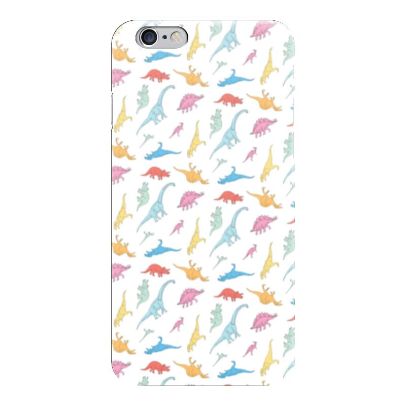 Чехол для iPhone 6 глянцевый Printio Динозаврики чехол для iphone 7 глянцевый printio динозаврики