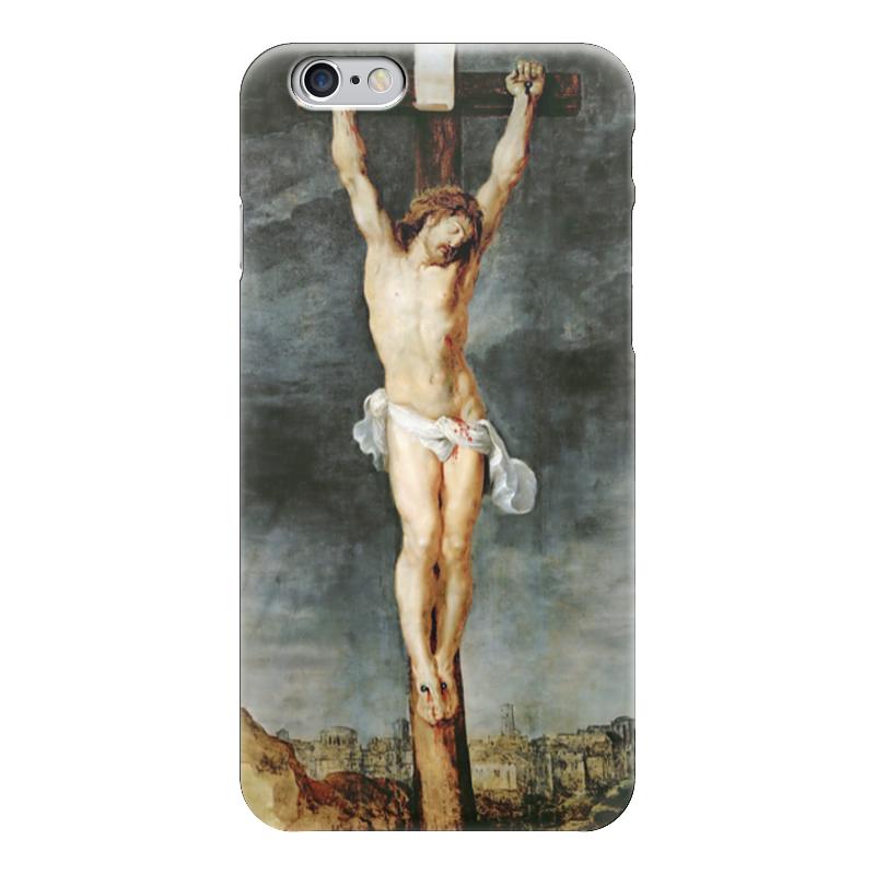 Чехол для iPhone 6 глянцевый Printio Христос на кресте билет на шоу искушение на 6 октября питер