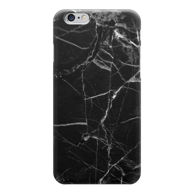 Чехол для iPhone 6 глянцевый Printio Черный мрамор. чехол brosco croco для iphone 6 черный с имитацией под крокодиловую кожу